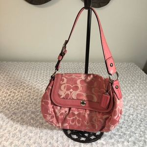 Pink coach signiture purse